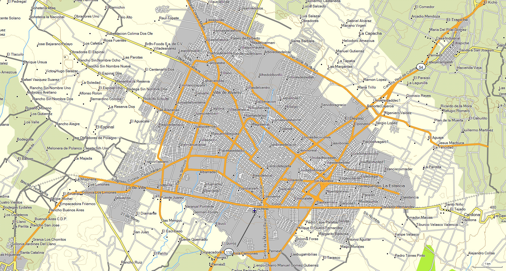 localidad mapa: